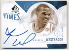RUSSELL WESTBROOK 2010 11 SP AUTHENTIC SIGN OF THE TIMES AUTOGRAPH ON CARD AUTO