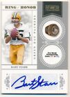 BART STARR 2010 NATIONAL TREASURES RING OF HONOR AUTOGRAPH PACKERS AUTO SP # 50