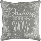 The Holiday Aisle Drees Snow Cotton Throw Pillow Cover
