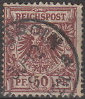 Stamp Germany Reich Mi 050 Sc 051 1889 Germania Empire Post Office Eagle Used