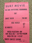 Vintage Duke Kahanamoku Surfing movie surf poster 1967 super rare surfboard old