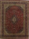 S Antique Handmade Traditional Rare Red Persian Rug Oriental Area Carpet 9X13
