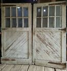 Antique Carriage Door set #2 measure 96 x 96 overall vtg. barn, garage old paint