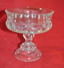 Vintage Kings Crown Thumbprint Compote Candy Dish/ Excellent Condition