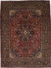 Traditional S Antique Handmade Rare Mashad Persian Rug Oriental Area Carpet 8X11