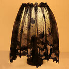 Black Lace Spider Web Landshade Topper Lamp Shades Fireplace Mantle Scarf Cover