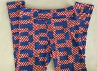 Lularoe Legggings NEW Size Tall & Curvy Red, White & Blue Patriotic 4th of July