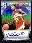DOMINIQUE WILKINS 17-18 Panini Spectra GLOBAL ICONS SILVER PRIZM AUTO SP #60 99!