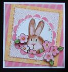 Very Rare ADORABLE LIL PEEKING BUNNY EARS FACE rubber stamp EASTER SPRING peep