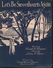 1924 Hession & Boos Michigan Private Sheet Music (Let s Be Sweethearts Again)