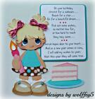 ELITE4U GIRL BIRTHDAY premade paper piecing scrapbook diecut piece page WOLFFEY5