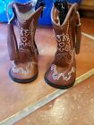 American Girl Doll Cowboy Boots brown with white stitching