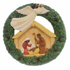 Black Art NATIVITY WREATH PLAQUE Polyresin African American Religious 19003
