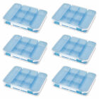 Sterilite Divided Storage Case for Crafting and Hardware 6 Pack  14028606