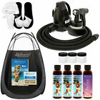 Sunless Airbrush HVLP SPRAY TANNING SYSTEM 4 Simple Tan DHA Solution Tent Video