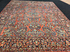 ANTIQUE  PERSIAN SAROUK MOHAJERAN  RUG 9X12FT CIR 1900
