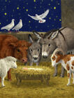 Carolines Treasures Nativity Scene With Just Animals Vertical Flag