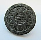 Amazing Antique Heavy Solid Steel Metal Picture BUTTON w/ Sun Design 7/8