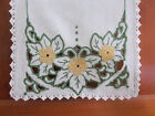 Crafts Mission Hand Made Embroidered Linen Table Runner 36x11