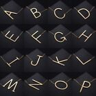 Gold Silver Stainless Steel Large Alphabet Initial Pendant Necklace Jewelry Gift