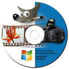 NEW 2019 Professional Photo Image Editing Software GIMP with Photo shop Guide CD