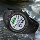 Mens Digital Sport LED Large Face Military Stopwatch Alarm 50M WR Wrist Watch US