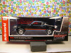 BLACK 1969 FORD MUSTANG MACH I AUTO WORLD 118 SCALE DIECAST METAL MODEL CAR