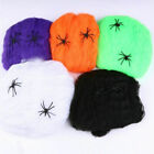 Halloween Spider Web Scary Party Scene Props Stretchy Cobweb Home Bar Decoration