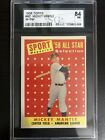 1958 TOPPS MICKEY MANTLE - ALL-STAR # 487 - SGC 84 - NEW YORK YANKEES