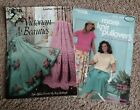 2 Leisure Arts Victorian Beauties 1990 & More Knit Pullovers 1986