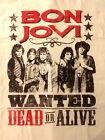 BON JOVI cd lgo WANTED DEAD OR ALIVE Official SHIRT XL New slippery when wet