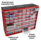 44 Drawers Storage Box Tools Crafts Beads Table Top Wall Mountable 20 x 15 In