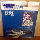 1996 Shawon Dunston Chicago Cubs Starting Lineup in pkg w/ Baseball Card
