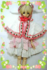 Whirt Rabbit Strawberry Cloak Fits SD Girls SD13 SD16 DDS DD 1/3 BJD