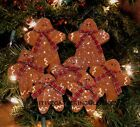 = 7 Primitive Folk Art ~ GINGERBREAD Christmas Wood Ornaments Ornies