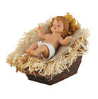 5 L x 3 H Infant Baby Jesus In Manger Statue Christmas Nativity Scene Figurine