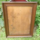 ANTIQUE DECORATIVE WIDE CUSHION MAHOGANY PICTURE FRAME~LOVELY AGED PATINA