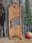 Antique Primitive Wood Tombstone Cabbage Shredder Early Farmhouse Kitchen