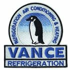 Vance Refrigeration With Penguin Logo Embroidered Iron On Patch
