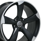 OEW Fits 19x85 Rim Audi VW S4 Black Wheel Machd Face 58867