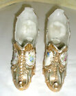 Vintage Porcelain Figurines Shoes/Slippers Victorian Gold Floral Decorative