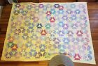 Antique VTG 1920's Six 6 Point Star Quilt Handmade Patchwork 70