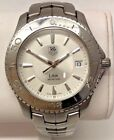MEN'S TAG HEUER WATCH LINK MODEL WJ1111-0 STAINLESS STEEL WITH BOX AND PAPERS
