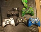 Lot of 5 Sony Play Station and Microsoft X-box Controllers  Tested Working  AS-7