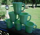 Set of 6 Vintage Fire King Jadeite Coffee Cups