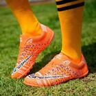 Mens Soccer Cleat Football Sneakers Indoor TF Trained Soccer Shoes Orange US9