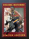1991-92 FLEER STAMP DIKEMBE MUTOMBO 1ST NBA AUTO SIGNED DENVER NUGGETS COA RC