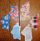 Vintage Cut Lot of 6 TRIANGLE/SQUARE Quilt Blocks  Feedsacks TO FINISH