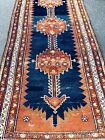 Auth:  Antique Malayer Runner  Hand Made Fine 1920's  Vegetal Dye Cutie 4x16  NR