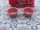 FIESTA ROSE pink Set of 2 BOUILLON BOWLS Fiestaware bouillon bowl
